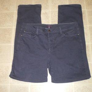 NYDJ Blue Stretch Denim Jeans Straight Leg sz 14W